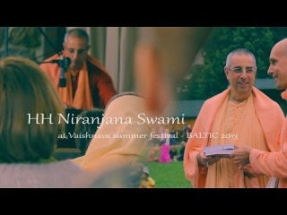 Niranjana Swami at Vaishnava summer festival - BALTIC 2013